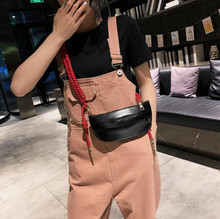 Fashion New Women Waist Bag Bag For The Belt PU leather Rope Knot Fanny Pack Bananka bum bag Women Catwalk Belly Band Belt bag