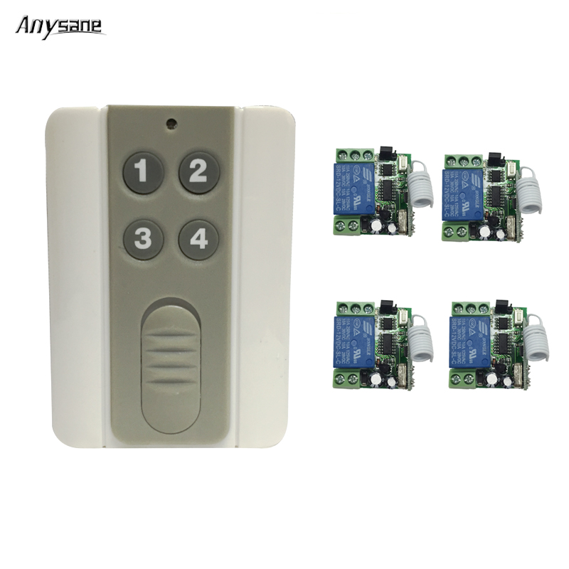 433mhz remote control light switch Learning code EV1527 control controller switch for smart home automation DC12V relay module