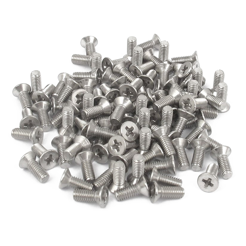 Panel Screws 100pcs 50PCS M1 M1.2 M1.4 M1.7 M2 M2.2 M2.6 M3 M4 Cross Recessed Flat CountersunK Head Screws Self-tapping Wood Screws Nails Fasteners Color : 10mm, Size : M2.6 100pcs