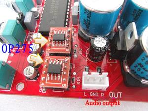 Image 3 - 12v 24v LM4610 HIFI Pre amp Preamplifier Tone Board bass treble balance volume OP275 OPAMP Volume Control