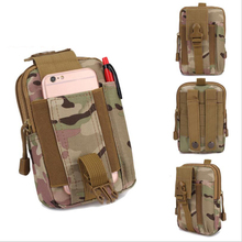 Tactical camouflage pockets waterproof sports multifunction bag tactical outdoor running mobile