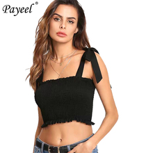 Sexy Frill Crop Top Women Shirt Club Tank Tops Sleeveless Summer Suspenders Blouses Woman 2019 Shoulder Strap Vest Bandeau Top open shoulder frill trim crinkle top