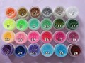 Fluorescent Glitter Color UV Gel Builder Acrylic Nail Art Shiny Nail Gel Polish Individually Color Selection