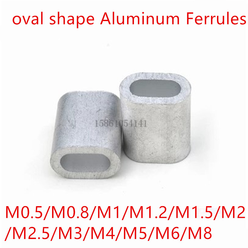 M0.8~M8 Snare Wire Rope Clip Fitting Aluminum Cable Crimp Sleeves Cable Ferrule