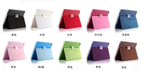 Luxury Style Stand Design Leather Flip Cover Case for apple ipad 2 ipad3