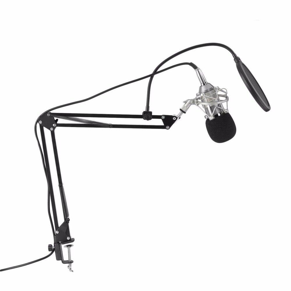 Professionnel Microphone À Condensateur BM-800 Cardioïde Pro Audio Studio Vocal Enregistrement Mic Enregistrement Sonore Microphone Avec Support