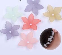 Модные Акриловые цветы свободная повязка на голову пластиковые