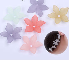 Fashion Acrylic Flower Loose Beads Headdress DIY Plastic Beads For Jewelry Making Mix color 22mm 100Pcs y1011(China)