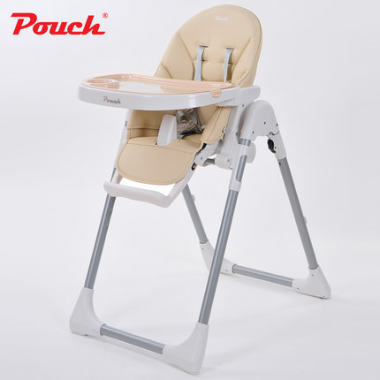 Five-point seat belts Portable Folding Adjustable baby High chair baby Feeding Play chair children Double-plate Highchair K06