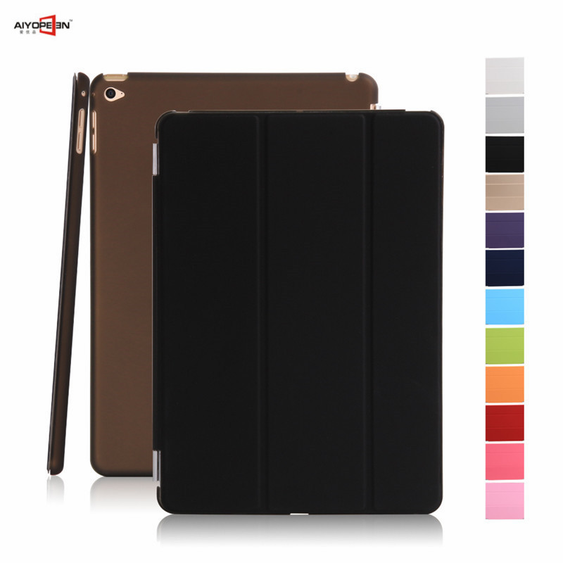 for ipad mini 4 pu leather front magnet smart case with hard pc transparent matte cover wake up sleep for apple ipad mini 4 newest hard shell leather cover case for kobo aura h2o 6 8 inch ebook wake up and sleep screen protector stylus pen