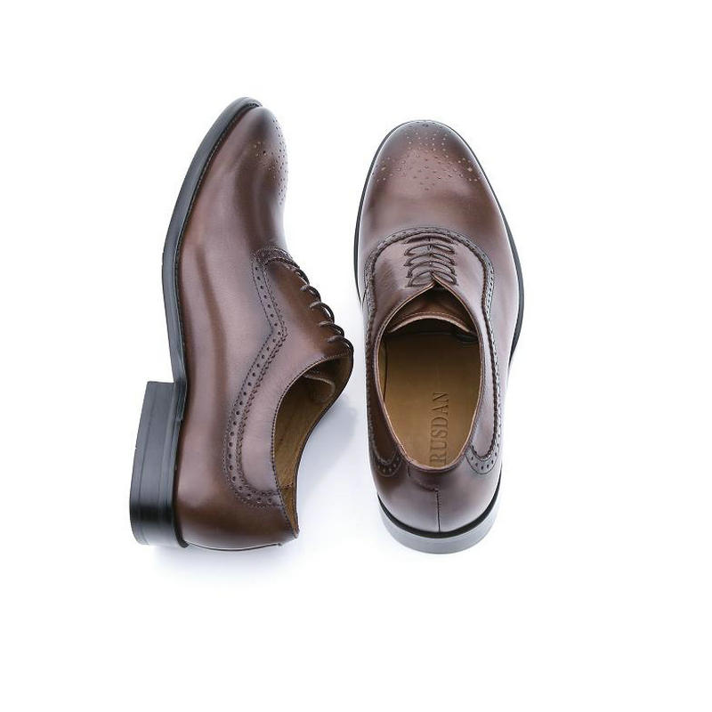 758ef428018c Brand oxford Genuine leather men shoes wedding lace-up UK fashion brown coffee  business male dress shoes men Oxford shoes BL02-1