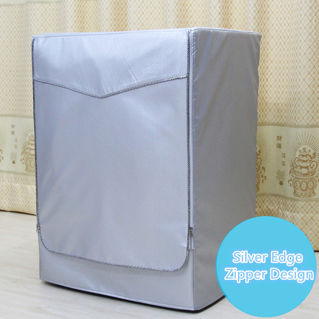 Washing Machine Cover Sunscreen Waterproof Case Home Laundry Dryer Polyester Silver Coating Automatic Roller Dustproof