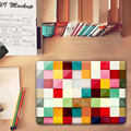 Fashion Patchwork lattice pattern Crystal Hard Case Cover for Macbook Pro 13.3 15.4 12 Retina Mac Air 11 13 Case Accessories