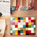 Moda Patchwork malha padrão Cristal Caso Capa Dura para Macbook Pro 13.3 15.4 12 Retina Mac Air 11 13 Caso acessórios