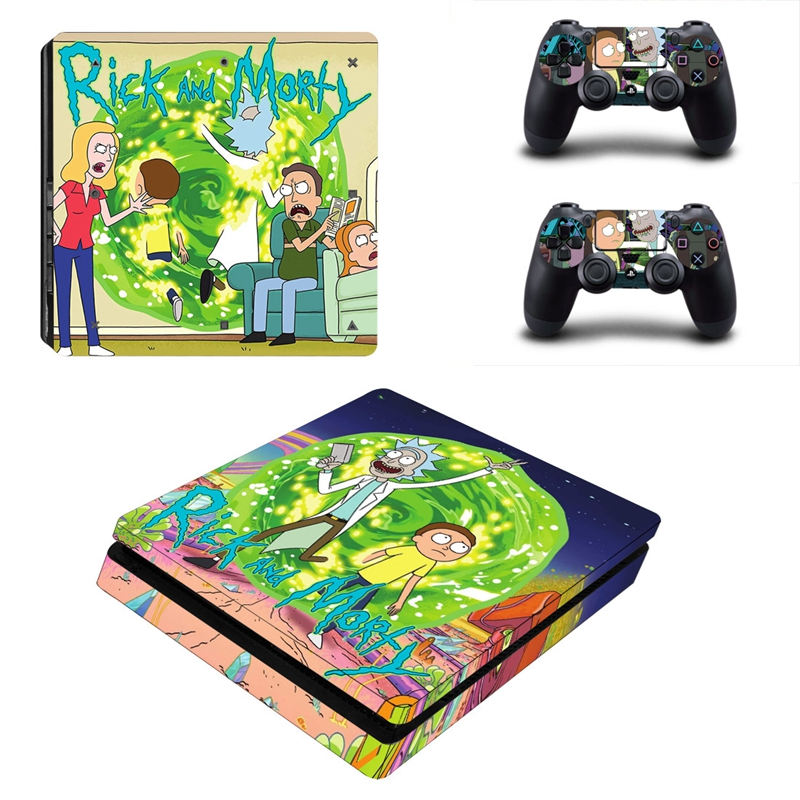 Image 3 - HOMEREALLY PS4 Stickers Rick and Morty PS4 Slim Skin Sticker PS4 Skin Sticker For Sony PlayStation 4 Console and Controller Skin-in Stickers from Consumer Electronics