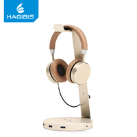 Hagibis Headset Headphone Stand Holder With 3 Ports of Usb 3.0 Hub Display for Headphones Usb 3.0 Hub Headphone Cable Holder Earphone Accessories