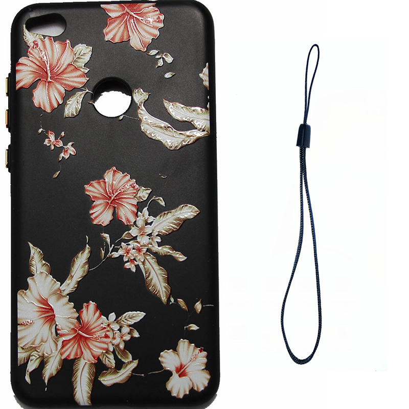 3D Relief flower silicone case huawei p8 lite 2017 honor 8 lite (11)