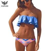 NAKIAEOI 2016 Sexy Bandeau Bikinis Women Swimsuit Brazilian Bikini Set Beach Bathing Suit Push Up Swimwear