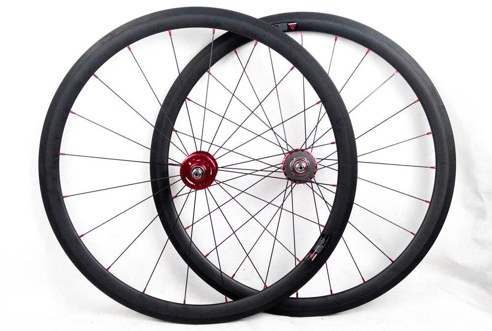 38mm clincher carbon fiber track single font b speed b font wheel track use 700C 25mm