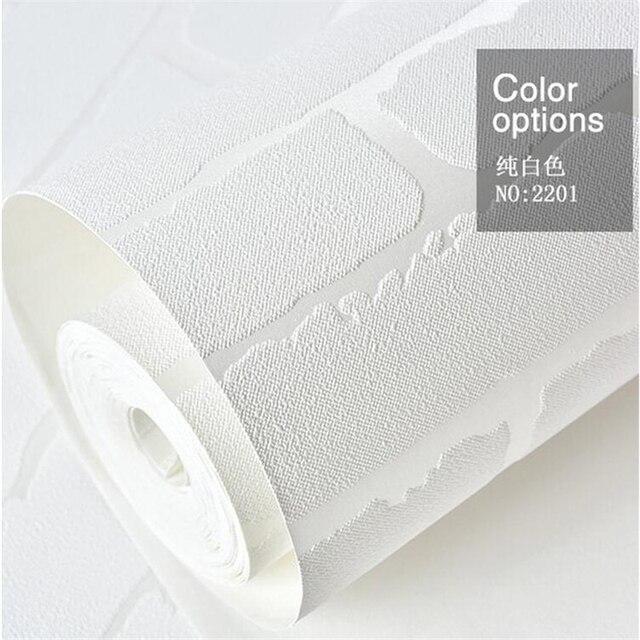 Beibehang Pur Blanc Non Tisses Brique 3d Papier Peint Salon Tv Fond