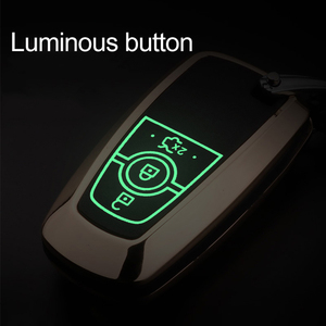 Image 5 - Luminous Leather Car Styling Key Cover Case for Ford Fusion Mondeo Mustang Edge Expedition EXplorer 2017 2018 smart key case