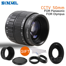 50 мм F1.4 Объективы для систем видеонаблюдения киносъемок + C крепление + Macro ring + капюшон для Olympus Micro 4/3 m4/3 EP3 EP5 EPL1 EPL2 EPL3 EPL5 EPM1 OM-D E-M5 E-M10
