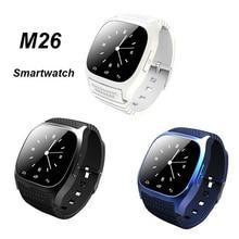 Wasserdichte Smartwatch M26 Bluetooth Smart Uhr Mit LED Alitmeter Schrittzähler Für Android IOS Smartphone Reloj Inteligente