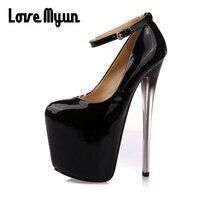 Sexy Round Toe super High Heels Shoes Woman Wedding Party Shoes 19 16 22CM BIG 43. Ladies Thin Heels Pumps Platform NN 91