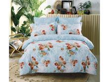 Комплект постельного белья семейный СайлиД, B, красные цветы