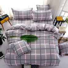 3/4 pcs Bedding Set 1.2m 1.5m 1.8m 2m Bedsheet Bed Linen King Queen Size Duvet Cover Pillow Quilt Case Bedclothes(China)
