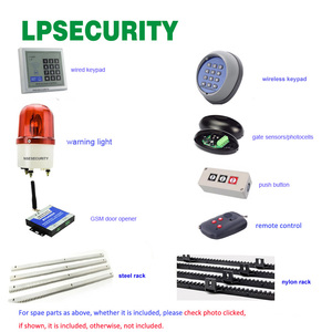 Image 5 - LPSECURITY Waterproof Sliding Automatic and Remote Control Gate Opener for 1800kg Portal Weight Sliding Gate Operater Enginee