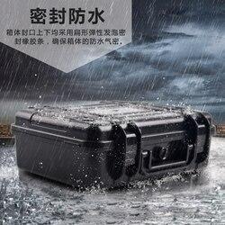 علبة أدوات بلاستيكية صندوق أدوات مقاوم للصدمات صندوق معدات أمان مع حافظة كاميرا مع رغوة مقصوصة مسبقًا شحن مجاني 250 x180x85mm