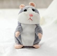 Fun 15cm Lovely Talking Hamster Speak Talk Sound Record Repeat Animal Kawaii mini Electric Hamster Toys For Children gift kids