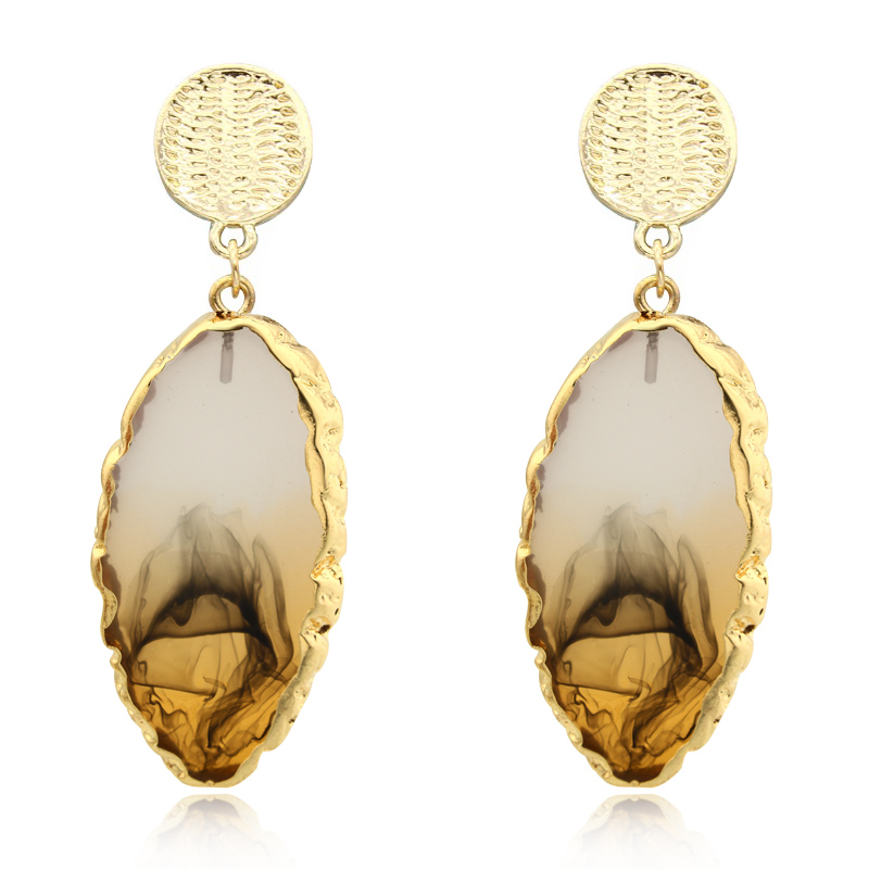 Dayoff Boho Korea Irregular Resin Drop Dangle Gold