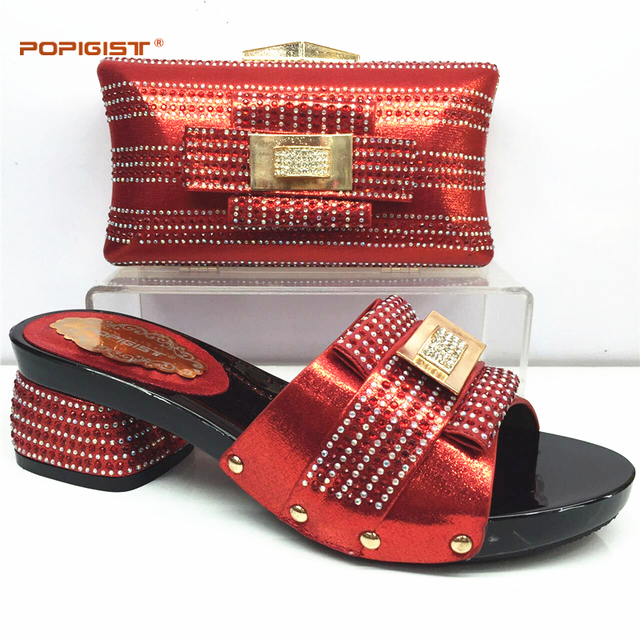 Women Shoe and Bag To Match for Parties Italian Ladies Shoe and Bag Set for Wedding Matching Italian Shoe and Bag Set Red Color