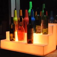 Новый Staged светодиодная полка для вина дистанционное управление Цвет Изменение светодио дный светодиодный винный стол бар вина дисплей меб