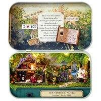 Funny Countryside Notes 3D Wooden DIY Handmade Box Theatre Dollhouse Miniature Box Cute Mini Doll House