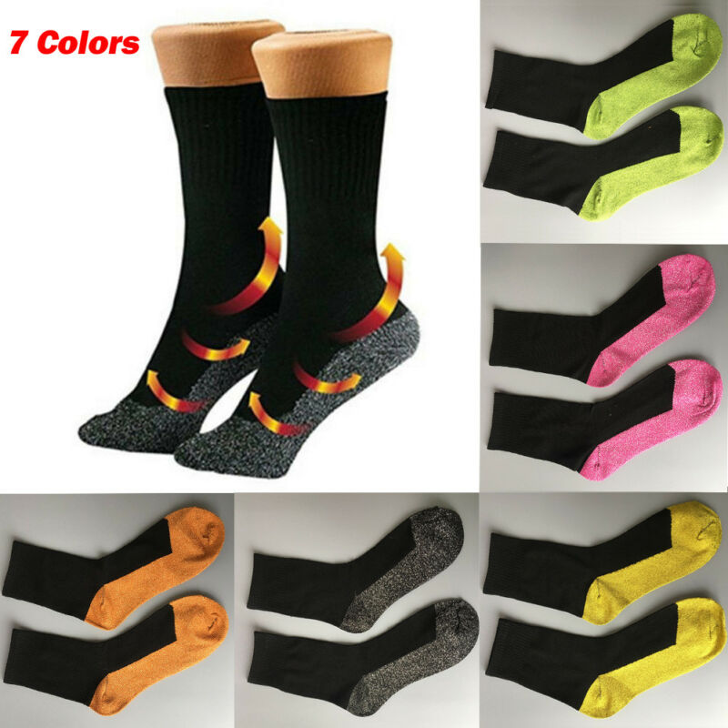 Unisex Men Women Winter Thermal Long Ski Snow Walking Hiking Sports Towel Socks