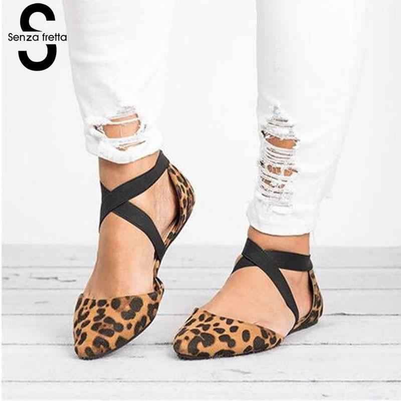 c57639d6327 Senza 2019 Women Summer Beach Retro Pointed Toe Sandals Shallow Platform  Buckle Strap Shoes Woman Flat