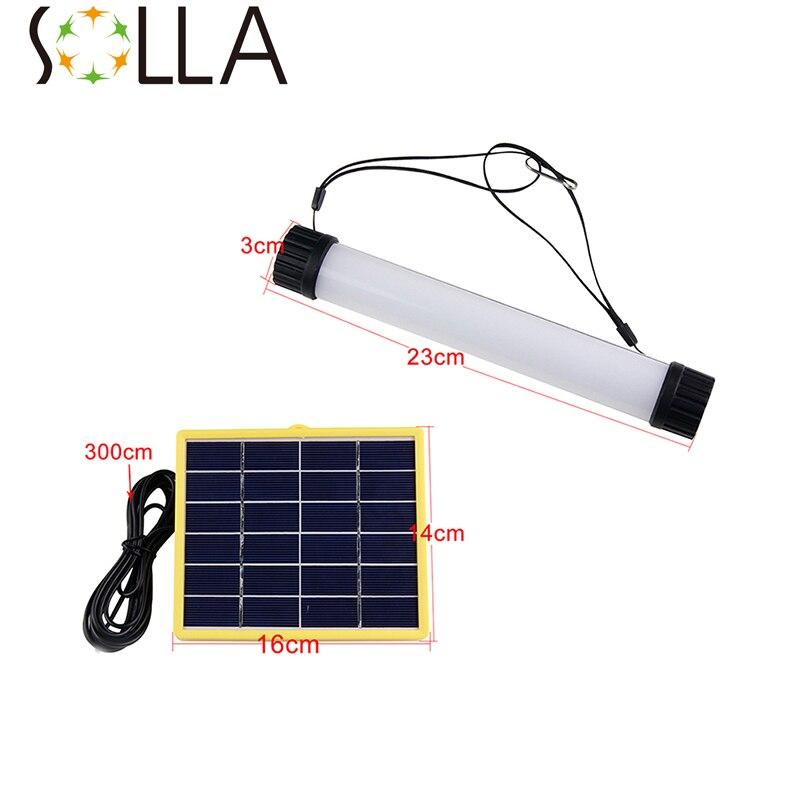 Outdoor Lighting Dimmer: 7 Level Dimmer LED Solar Outdoor Light Panel Tube Powered
