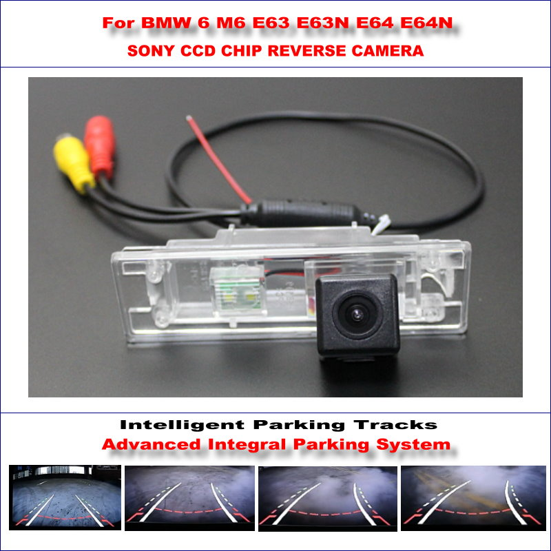 Intelligentized Reversing Camera For BMW 6 M6 E63 E63N E64 E64N Rear View Back Up / 580 TV Lines Dynamic Guidance Tracks