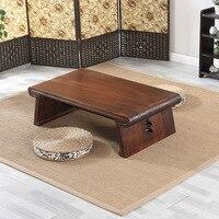 Азиатский японский/китайский низкий чайный столик прямоугольник 120X55 см Гостиная мебель стол для Чай, кофе под старину Gongfu деревянный стол