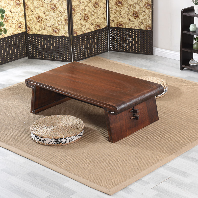 Wooden Asian Japanese/Chinese Low Tea Table Rectangle Living Room Furniture Table For Tea, Coffee Antique Gongfu Wood Table
