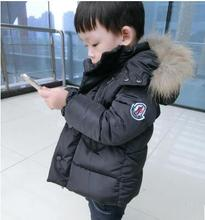 fashion 2016 children's winter jackets down coat outerwear solid color cotton-padded jacket baby thickening winter coat