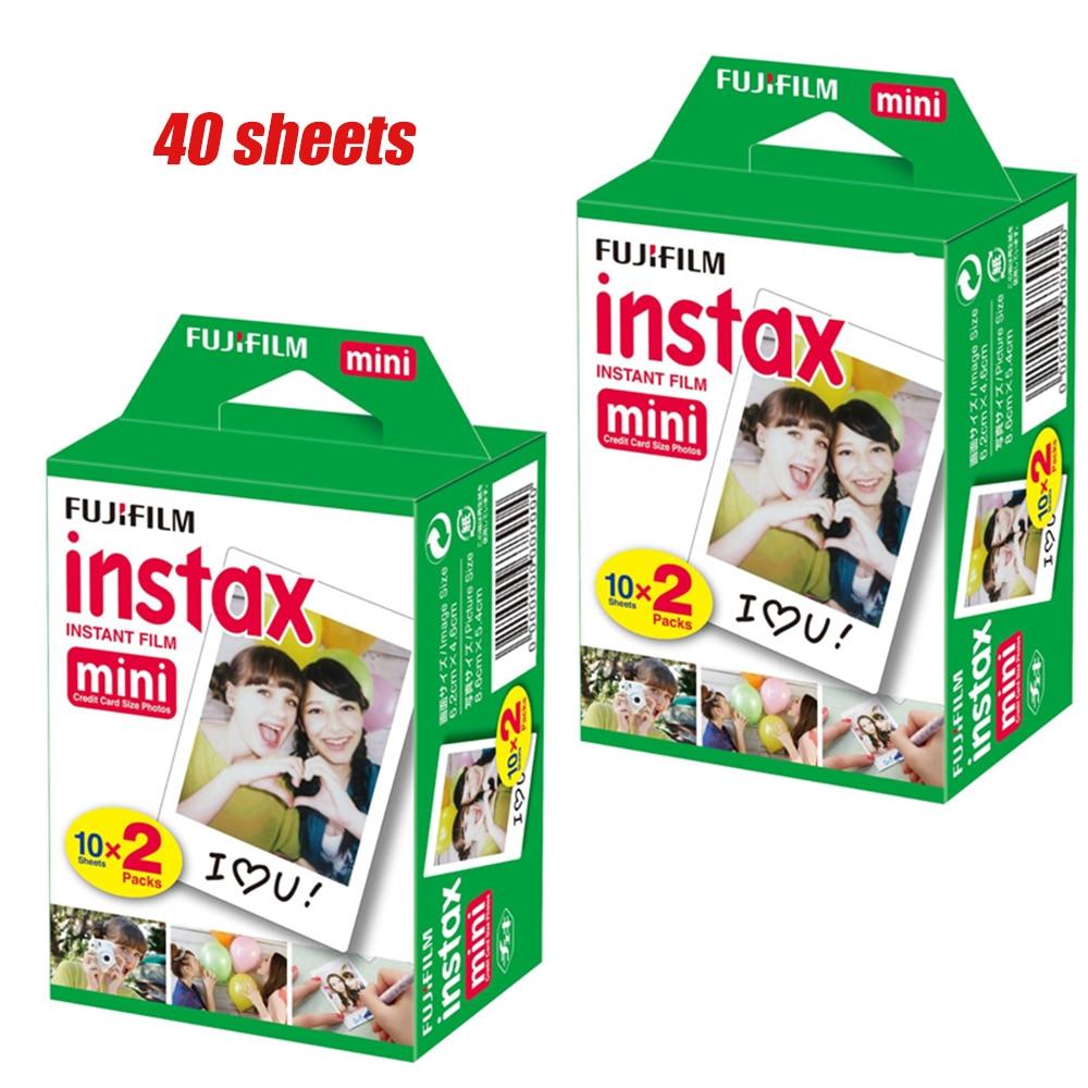 40 Sheets 2 Box Fujifilm Instax Mini 8 Film Instant White Edge Photo Paper 3 Inch