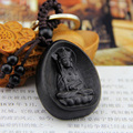Chinese Traditional Ebony Carving Buddhism Buddha Car/Bag/Purse Keychain Amulet Pendant Good Luck for Your All The Best