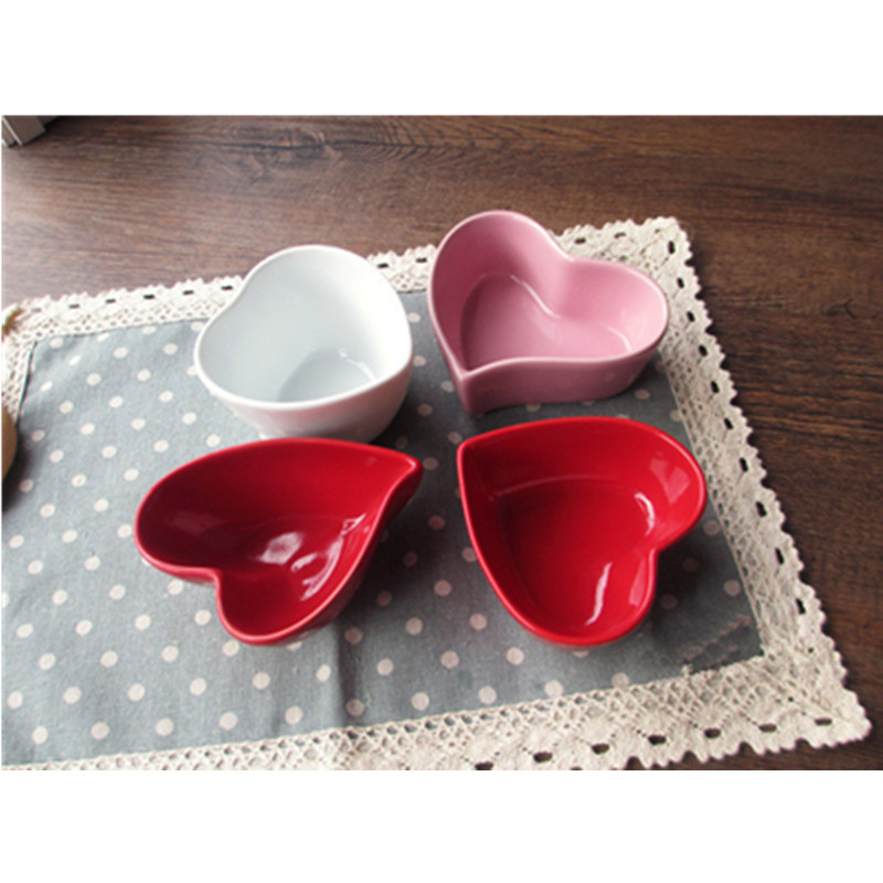 4pcs/Set Small Ceramic Heart Shaped Bowls for Baking Molds Seasoning dish Pudding Microwave over Heat Resistant-in Bakeware Sets from Home u0026 Garden on ...  sc 1 st  AliExpress.com & 4pcs/Set Small Ceramic Heart Shaped Bowls for Baking Molds Seasoning ...