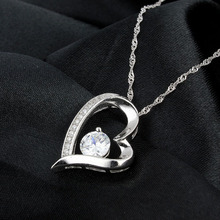 Exquisite Cubic Zirconia Heart Pendant For Ladies