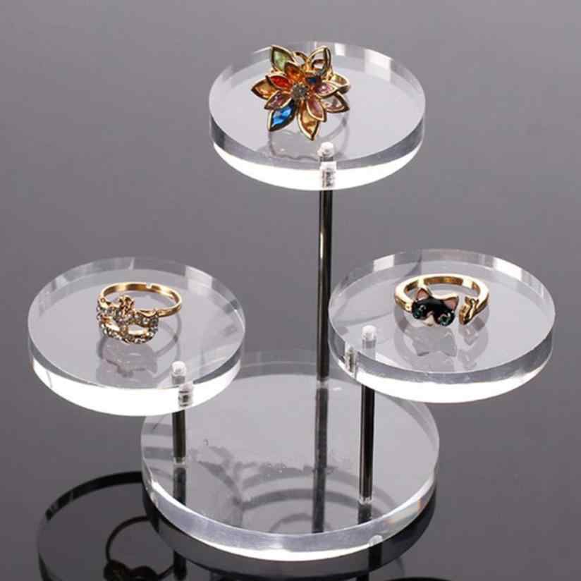 New Multifunctional Round Button Acrylic Jewelry Display Stand Earring Necklace Ring Display Shelf Display Stand for Earrings