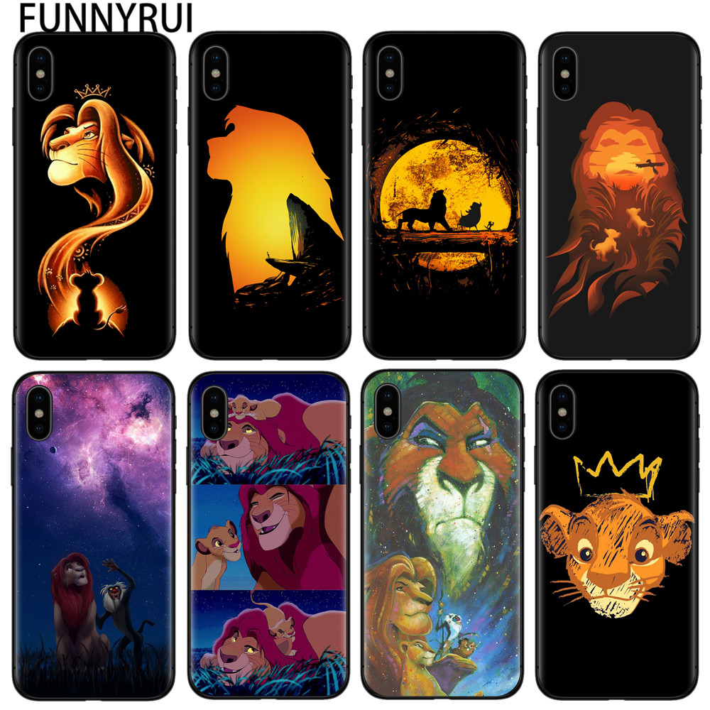 FUNNYRUI The <font><b>Lion</b></font> <font><b>King</b></font> New <font><b>Case</b></font> For <font><b>iphone</b></font> X XR XS Max 8 8plus 7 7plus Accessories Cell phones For <font><b>iphone</b></font> <font><b>6</b></font> 6S Plus 5S SE Cover image